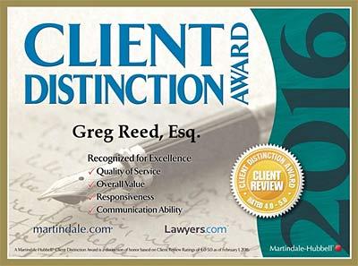 Greg Reed Client award