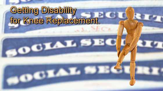 knee replacement disability