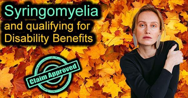 Syringomyelia Disability
