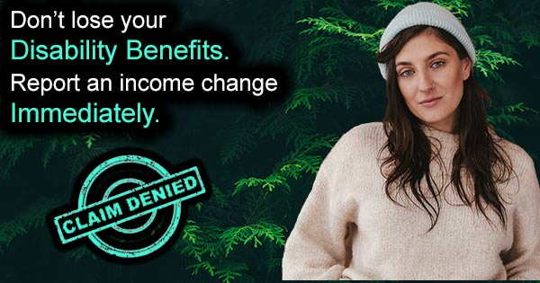 Report income change to the SSA - Disability